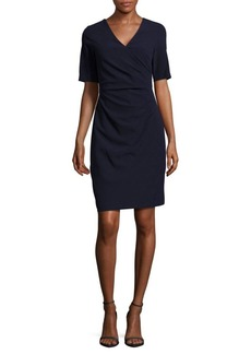 Adrianna Papell Solid Ruched Dress