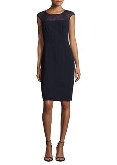 Adrianna Papell Solid Stretch Sheath Dress