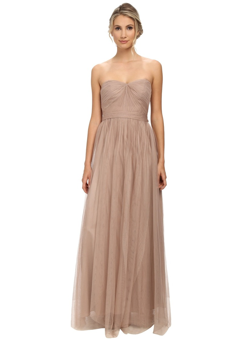 Adrianna Papell Strapless Tulle Convertible Gown