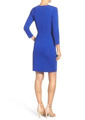 Adrianna Papell Stretch Faux Wrap Dress (Regular & Petite)