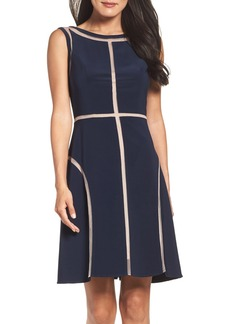 Adrianna Papell Stretch Fit & Flare Dress