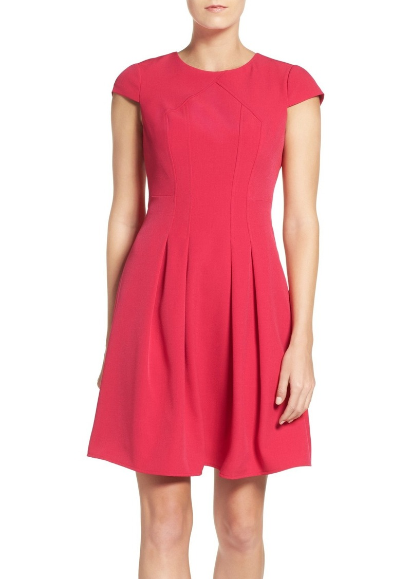 Adrianna Papell Stretch Fit & Flare Dress (Regular & Petite)