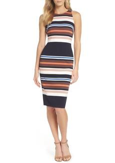 Adrianna Papell Stripe Body-Con Dress