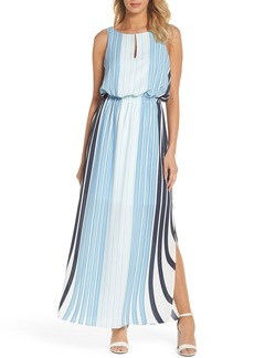 Adrianna Papell Stripe Maxi Dress