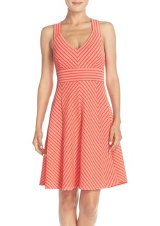 Adrianna Papell Stripe Ottoman Knit Sundress (Regular & Petite)