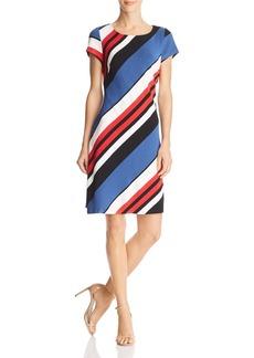 Adrianna Papell Striped Knit Dress