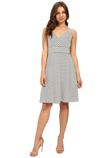 Adrianna Papell Striped Ottoman Knit Dress