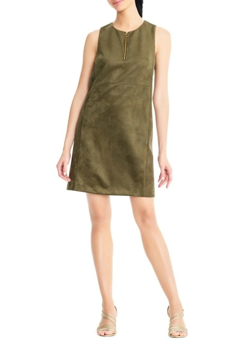 Adrianna Papell Scuba Suede Shift Dress