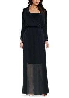 Adrianna Papell Surplice Chiffon Maxi Dress