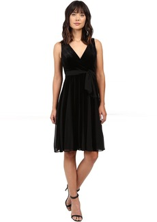 Adrianna Papell Surplus Midi Velvet Spliced Carwash Dress