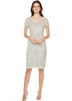 Adrianna Papell T-Shirt Pegged Dress with Beads
