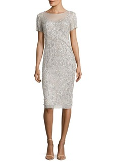 Adrianna Papell T-Shirt Pegged Knee-Length Dress