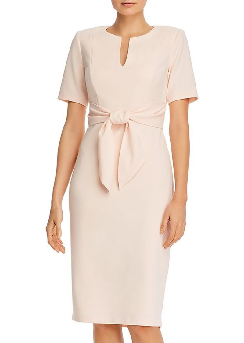 Adrianna Papell Tie-Front Sheath Dress