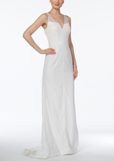 Adrianna Papell Tiered Lace Gown