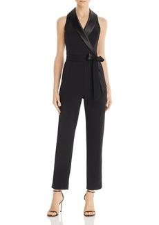 Adrianna Papell Tuxedo-Style Jumpsuit