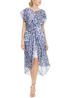Adrianna Papell Twisted Animal-Print Dress