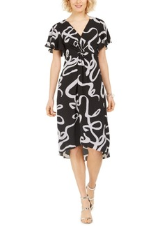 Adrianna Papell Twisted Dot Dress