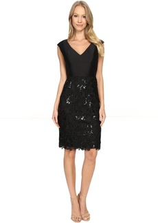 Adrianna Papell V-Neck Arcadia Top & Lace Skirt
