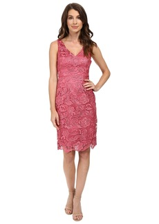 Adrianna Papell V-Neck Lace Dress