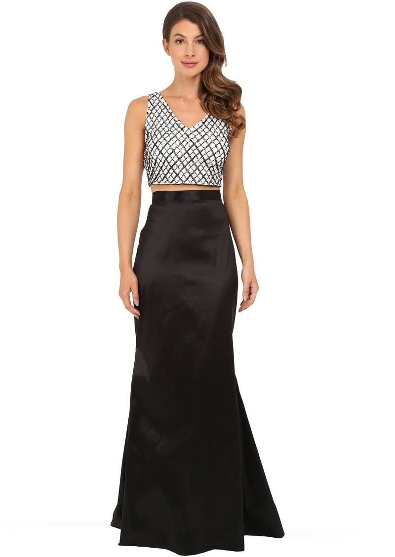 Adrianna Papell V-Neck Top and Taffeta Gown