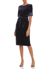 Adrianna Papell Velvet Sheath Dress