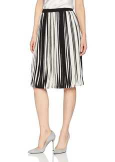 Adrianna Papell Women's 2 Tone Pleated Crepe Skirt