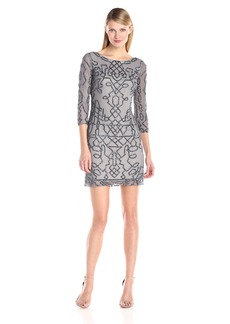 Adrianna Papell Women's Beaded Drop-Waist Cocktail Dress