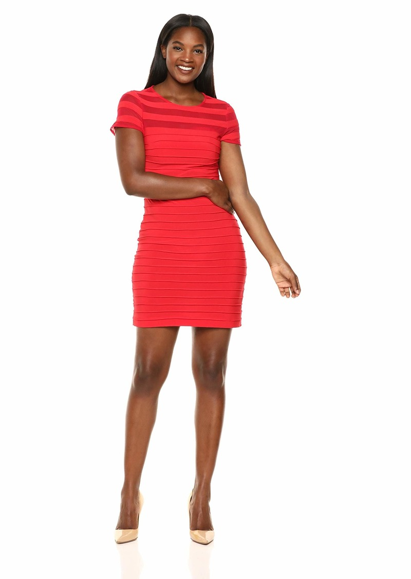 Adrianna Papell Women's A-LINE Banded Mini Dress red Polished