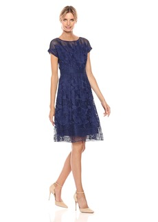 Adrianna Papell Women's a-Line Lace Dress