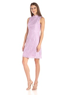 Adrianna Papell Women's A-Line Mock Neck Juliet Lace Dress