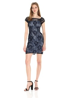 Adrianna Papell Women's Adele Lace Off Shoulder Sheath Dress