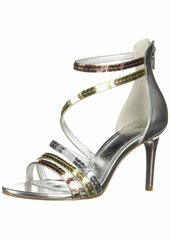 Adrianna Papell Women's Alexi Heeled Sandal Silver/shea/Gold  M US