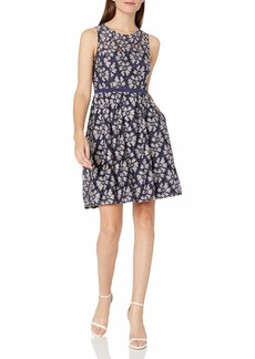 Adrianna Papell Women's Alia Lace Fit and Flare Dress