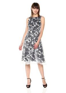 Adrianna Papell Women's Alyssa Organza Fit and Flare