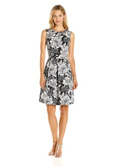 Adrianna Papell Women's Antique Elegance Embellished Fit and Flare