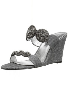 Adrianna Papell Women's Argo Wedge Sandal Gunmetal Jimmy net  M US
