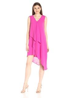 Adrianna Papell Women's Asymmetrical Front Drape Tunic