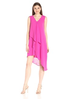 Adrianna Papell Women's Asymmetrical Front Drape Tunic