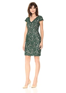 Adrianna Papell Women's Aubrey Lace Sheath Dress