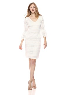 Adrianna Papell Women's Ava Lace Bell Sleeve Dress