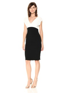 Adrianna Papell Women's Banded Vneck Sheath Dress