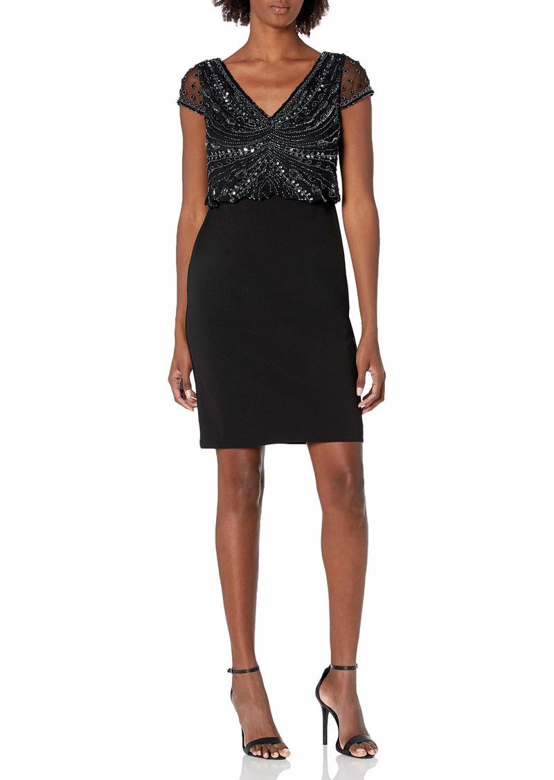 Adrianna Papell Women's Bead Crepe Dress