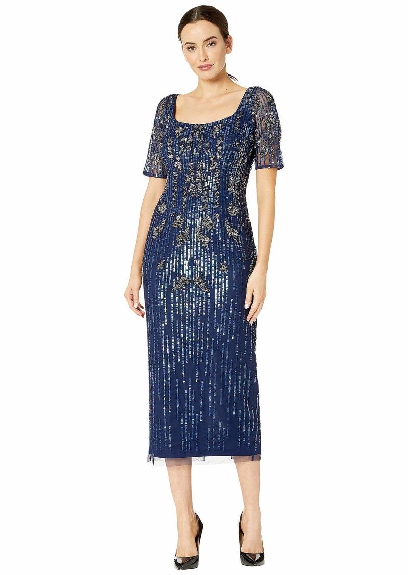 Adrianna Papell Women's Bead Mesh Dress