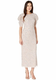 Adrianna Papell Women's Beaded Ankle Length Dress