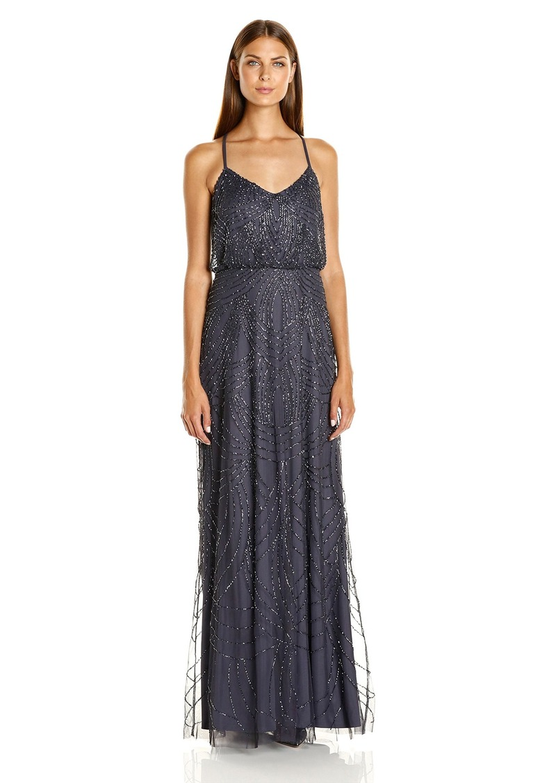 Adrianna Papell Adrianna Papell Women\'s Beaded Blouson Gown with ...