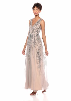 Adrianna Papell Women's Beaded Long Dress