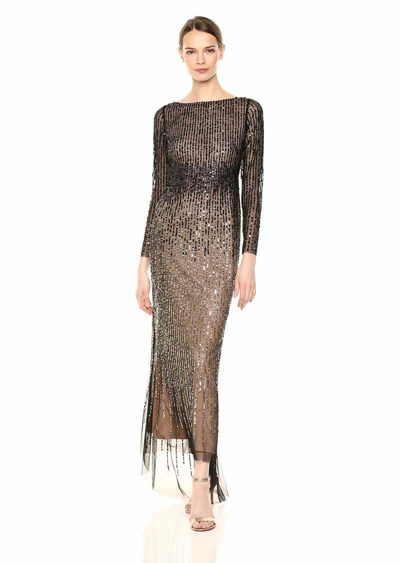 Adrianna Papell Women's Beaded Long Gown