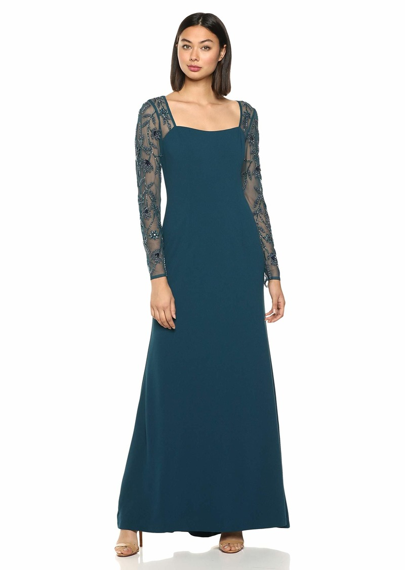 Adrianna Papell Women's Beaded Mermaid Gown