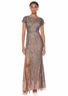 Adrianna Papell Women's Beaded MESH Dress