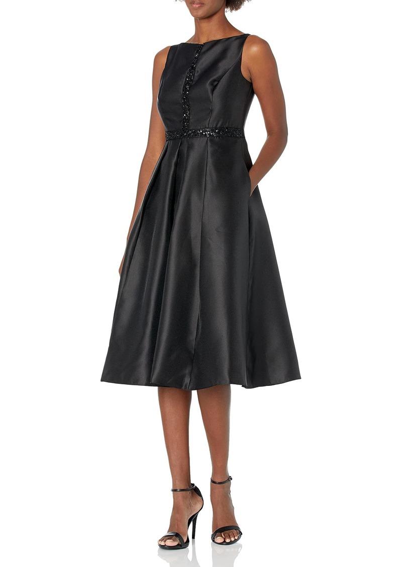Adrianna Papell Women's Beaded Mikado Dress